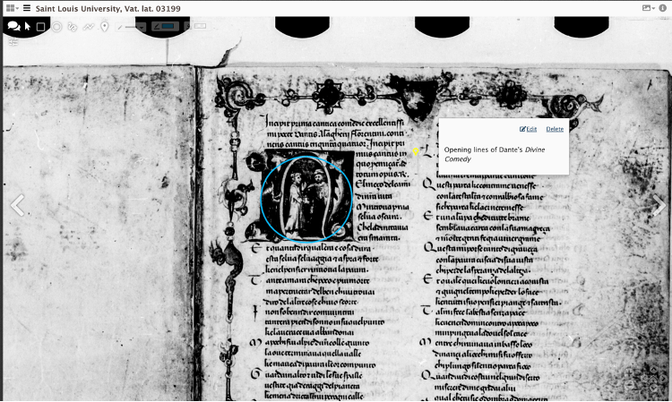 A view of a medieval manuscript