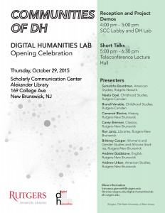 DH Lab Opening Flyer