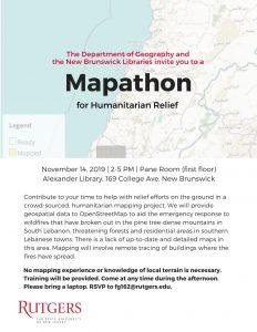 Mapathon Flyer