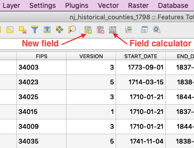 Adding a new field to the attribute table